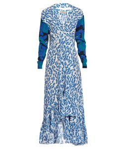 Preen By Thornton Bregazzi | Elta V-Neck Print Silk Dress