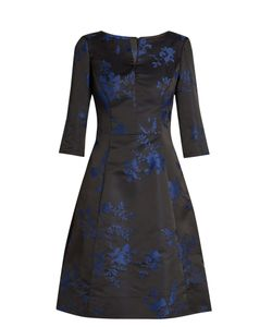 Oscar de la Renta | -Embroidered Duchess-Satin Dress