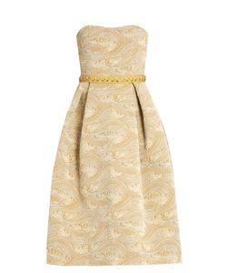 Mary Katrantzou | Nevis Strapless Jacquard Dress