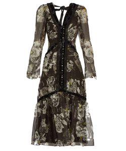 Erdem | Makayla V-Neck Silk-Organza Dress