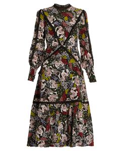 Erdem | Orianna Dietrich Garden-Print Silk-Crepe Dress