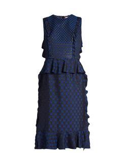 Lanvin | Ruffled Jacquard Dress