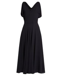 Valentino | Boat-Neck Silk-Georgette Midi Dress