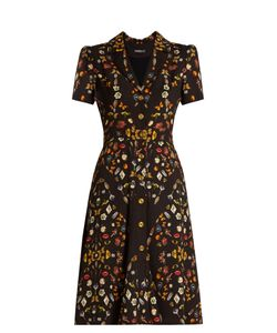 Alexander McQueen | Obsession-Print Button-Down Crepe Dress