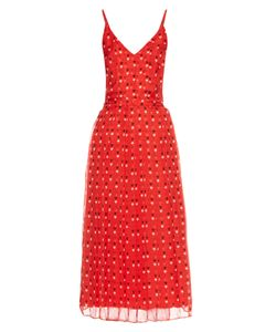 Christopher Kane | Love Heart-Print Silk-Chiffon Dress