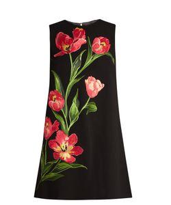 Dolce & Gabbana | Embroidered Wool-Blend Mini Dress
