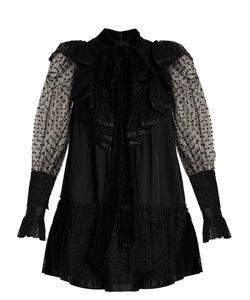 Marc Jacobs | Polka-Dot Flocked Tulle And Taffeta Dress
