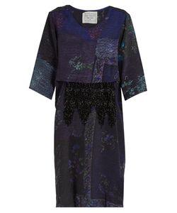 BY WALID | Dawn Patchwork-Print Dress