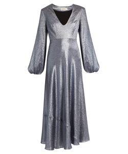 Zimmermann | Adorn Plunging Lamé Midi Dress