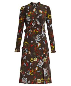 Erdem | Flora Bacall Night Print Silk Dress