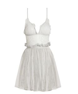 Alexander McQueen | Sleeveless Plunging Lace Mini Dress