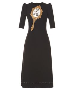 Dolce & Gabbana | Mirror-Embellished Wool-Blend Cady Midi Dress