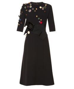 Dolce & Gabbana | Button-Embellished Wool-Blend Dress