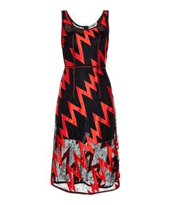 Christopher Kane | Lightning-Bolt Lace Midi Dress