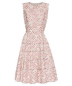 Oscar de la Renta | Polka-Dot Print Devoré A-Line Dress