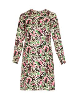 LA DOUBLEJ EDITIONS | Tulipani Long-Sleeved Silk Mini Dress