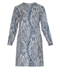LA DOUBLEJ EDITIONS | Bandana Long-Sleeved Silk Mini Dress