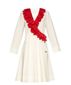 TRADEMARK | Safi Ruffle-Trimmed Cotton-Blend Dress