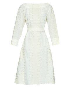 TRADEMARK   Tassel Waist-Tie Cotton-Blend Dress