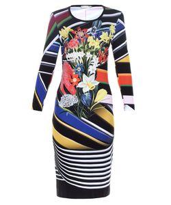 Mary Katrantzou | Stripe Bouquet-Print Jersey Dress