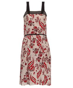 Vanessa Bruno | Ecura Ivy-Print Silk-Crepe Dress