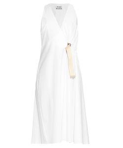 Acne Studios | Chen Pop Wrap Cotton-Poplin Dress