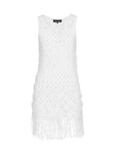 TABULA RASA | Akoto Macramé-Weave Fringed Dress