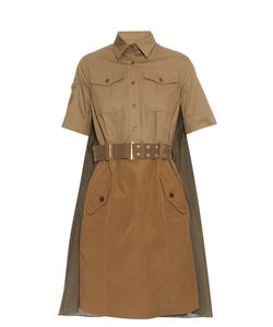 Kolor | Drape-Back Belted Cotton Dress