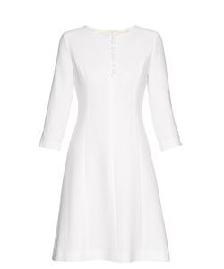 Goat | Carlotta Button-Up Double Wool-Crepe Dress