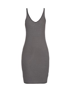 ATM | Striped Ribbed-Jersey Dress
