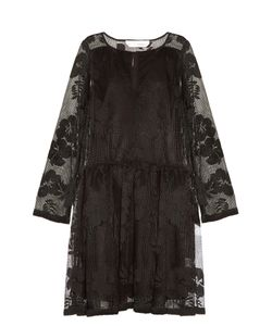 See By Chloe   -Mesh Long-Sleeved Dress