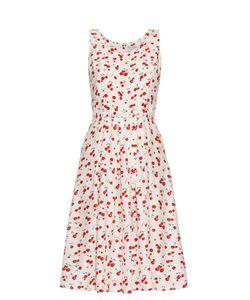 HVN | Jordan Cherry-Print Sleeveless Dress
