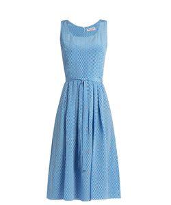 HVN   Jordan Heart-Print Sleeveless Dress