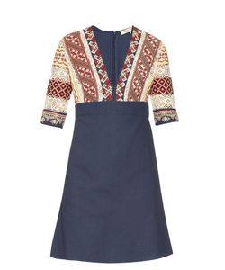 Vanessa Bruno | Ely V-Neck Embroidered Dress