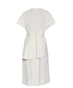 TRADEMARK | Belted Stretch-Cotton Dress