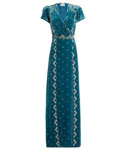 Luisa Beccaria | -Embroidered Velvet Dress