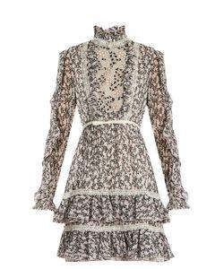 Giambattista Valli | -Print Ruffled Silk-Georgette Dress