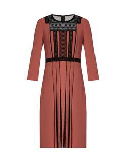 Bottega Veneta | Lace-Insert Crepe Dress