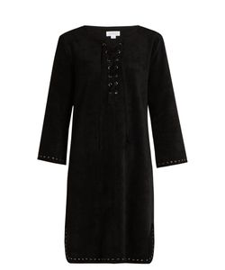 Velvet by Graham & Spencer | Raleigh Lace-Up Faux-Suede Dress