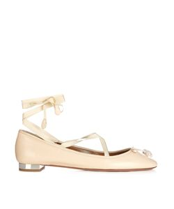 Aquazzura | Very Ballerina Crystal-Embellished Flats