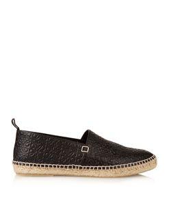 Loewe | Monogram-Embossed Leather Espadrilles