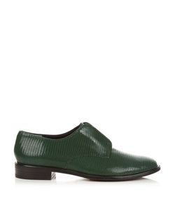 Robert Clergerie | Jamo Lizard-Effect Leather Slip-On Shoes