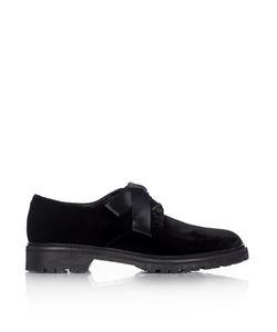 Saint Laurent | Army Lace-Up Velvet Shoes