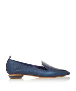 Nicholas Kirkwood | Beya Grained-Leather Loafers