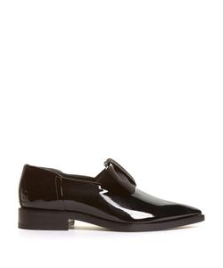 Lanvin | Grosgrain-Bow Patent-Leather Loafers