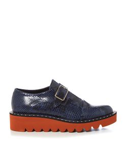 Stella Mccartney | Odette Monk-Strap Snake-Effect Faux-Leather Shoes