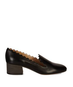 Chloe | Lauren Scallop-Edged Leather Loafers