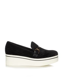 Stella Mccartney | Binx Velvet Flatform Loafers