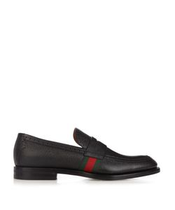 Gucci | Strand Grained-Leather Loafters