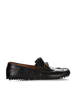 Gucci | Road Jump Fringed Leather Loafers